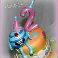 Girly Monster Cake & Cupcakes