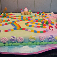 Candyland!! Thank you to all CCr's who posted pics that inspired this cake. I managed to get this one done through the flu and a 102 degree temp...