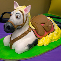 "Maximus From ""tangled"" Whew! This one is finally done! Where to begin? Ok, it is completely edible aside from the 3/8"" head-shaped cutout to support the head..."