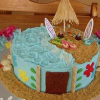 Hawaiian Party Vanilla cake, buttercream and MMF accents. Thanks for looking and your comment.