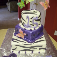 Zebra And Mariposa Cake