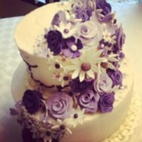 Profusion Of Flowers Cake In Violet