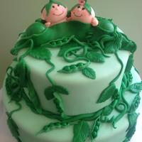 Two Peas In A Pod Cake - Twins' Baby Shower   *