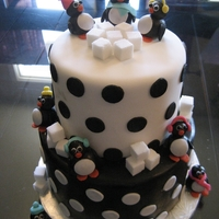 I See Penguins Summer birthday with a winter feel! This young lady wanted a penguin party!