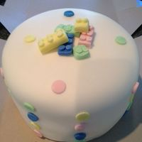 Baby Shower white cake with custard filling