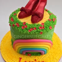 Wizard Of Oz Wizard of Oz themed. Rainbow vanilla cake inside.