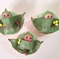 Gumnut Babies These cupcakes were designed from a children's book series in Australia 'The Tales of Snugglepot and Cuddlepie'.