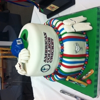 Cricket Cake  A Cake made for American College Cricket/TV Asia/TFC'. All accessories were hand modelled and are edible. 'The Friendship Cup&#...