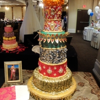 Indian Wedding Cake A wedding cake inspired by an Indian outfit.