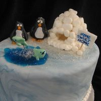Penguin Paradise I absolutely love penguins so i thought it would be fun to try out a penguin cake the igloo and penguins are made out of a fondant and...
