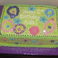 Bracelets A cake for a 2 yr old obsessed with bracelets