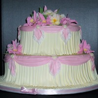Pleated Mother's Day This cake is the first one I have been able to do in a long time. I entered it into the Sugar Wonders Cake Show in The Colony, TX. I got an...