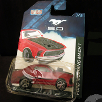 Mustang Mach 1 Toy Car This was my contribution a Mustang Mach 1 1st edition toy car in its original packaging. I decided on this design after seeing my son...