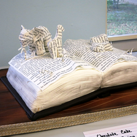 "An Inspiration Runs Wild - Safari Book Art I always wanted to do a cake that looked like book art. This cake was for a school fair that had a ""Safari"" theme. I thought this..."