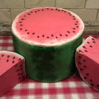 Watermelon Cake For My Niece All Cake And Fondant Work Watermelon cake for my niece, all cake and fondant work