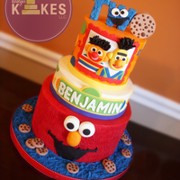 Sesame Street Kake Cakes Iced In Buttercream Decorations And Topper Are Mmf Sesame Street KAKE!Cakes iced in Buttercream. Decorations and topper are MMF