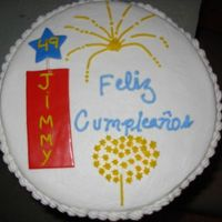 Birthday_Cake_49_Man.jpg I made this cake for a co-worker of my husband who is fan of the fireworks. The frosting is buttercream and some accents MMF. TFL!!!