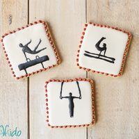 Gymnastics And Alabama Cookies My friend's son just graduated from high school, and I made some cookies for his graduation party. He's a remarkable gymnast (...