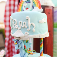 "My Little Pony Birthday Cake My daughter had grand visions for her My Little Pony birthday cake, including a top tier held up by ponies. ""It's your *duty*,..."