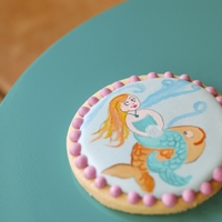 Painted Mermaid Cookies