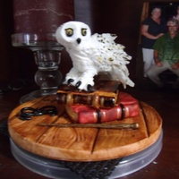 Harry Potter Dream Cake For Icing Smiles   HedwigMade of gumpaste