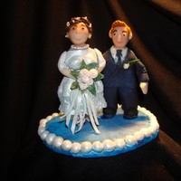 Family Tree Cake Topper I made this for a friend for a Family Tree theme cake. She gave me a photo of her grandparents on their wedding day and that is what the...