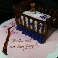 Crib Cake This was made for dear friends that have been trying for 8 years to have a baby. They have finally been blessed and are expecting their...