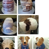 3D Dog Cake. . How It's Done   Well, at least, how I did it. LOL