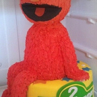 3D Elmo My First 3D Elmo. Styrofoam head, rice crispy treats legs and feet.