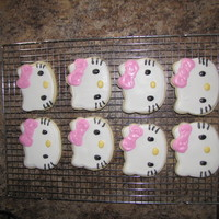 Hello Kitty First attempt at sugar cookies!
