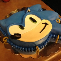Sonic Birthday Cake Chocolate Cke With Chocolate Buttercream And Fondant Decoration   Sonic Birthday Cake Chocolate Cke with Chocolate Buttercream and Fondant Decoration