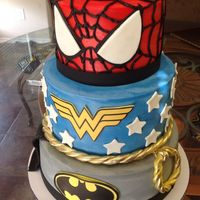 Superhero Birthday Cake Superhero Birthday Cake