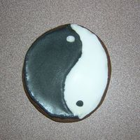 Olympic Cookies - 7 Yin and yang cookie. I had leftover dough after cutting everything else out so I just flattened it and baked. So I decided to make a yin...