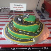 Race Track Cake For My Great Nephew Race Track Cake for my great nephew.