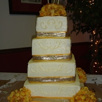 6, 8, 10, 12 Square Wedding Cake