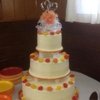 """fall"" Wedding Cake"