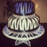 Zebra Birthday Cake Did This Cake For My Great Niece It Is Buttercream With Fondant Stripes First Time Using Fondant Bought The Read Zebra Birthday Cake - did this cake for my great niece. It is buttercream with fondant stripes. First time using fondant. Bought the ready...