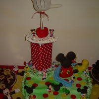 Mickey Mouse Clubhouse Made this cake for my grandson's 1st Birthday
