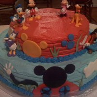 Mickey Mouse Clubhouse Fondant accents.