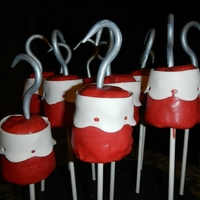 Captian Hook Cake Pops