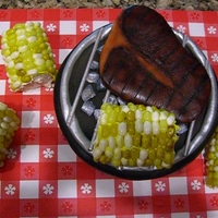 Grill Cake This cake was supposed to be for our beginning of the school year cookout, only it was cancelled. I was to far into it to stop. The grill...
