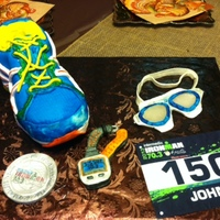 I Made This Piece As The Centerpiece For Our Thanksgiving Table It Was To Honor My Dad For Him Doing The Ironman Augusta The Race Bib Is M... I made this piece as the centerpiece for our Thanksgiving table. It was to honor my dad for him doing the Ironman Augusta. The race bib is...
