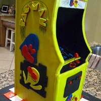 Pac-Man Arcade This was a surprise birthday cake I did for a good friend of mine's husband's birthday. The support system is wooden and...