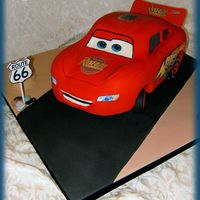 3D Lightning Mcqueen Lightning McQueen from the movie Cars.