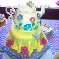 "Teapot Cake For A Sip And See Baby Shower Teapot cake for a ""Sip and See"" baby shower."