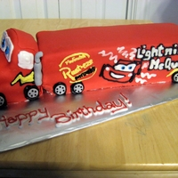 Mack Trailer From Lightning Mcqueen I thought this cake was a failure because I wasn't able to include the truck's hat but the client and her son loved it and it...