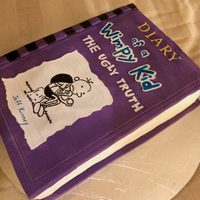 Diary Of A Wimpy Kid Book Cake I Made For My Daughters Birthday   Diary of a Wimpy kid book cake I made for my daughter's birthday.