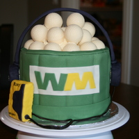 Golf Ball Cake This is a cake a did for a friend who won tournaments sponsored by Waste Management and Sony. I wanted to combine the two sponsors and the...