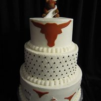 "Baby Longhorn Cake This is the cake I made for my baby shower. It is a 6"", 8"" & 10"". The 1st & 2nd tiers are chocolate cake and the 3rd..."