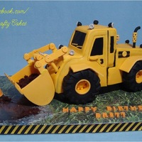 "Digger Cake  I made this Digger Cake for my sweet grandson who is obsessed with construction vehicles! I used the awesome ""Digger Cake..."